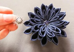 Kanzashi chrysanthemum original tutorial 14