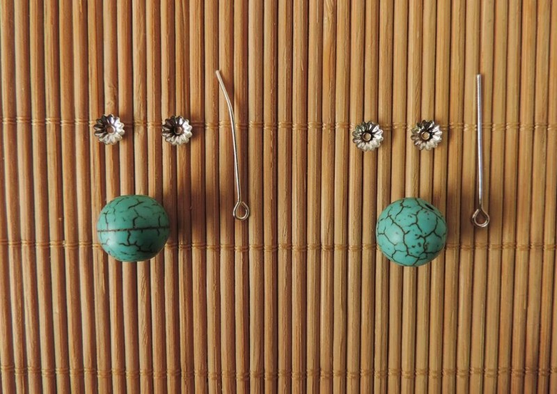 Flower earring tutorial - 07