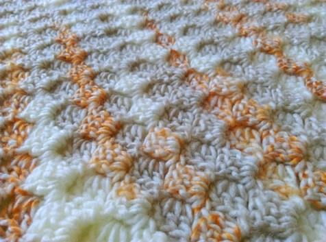 C2c corner-to-corner crochet baby blanket 3