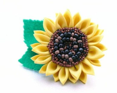 Beaded sunflower - second iteration