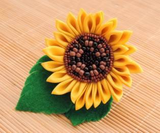 Beaded sunflower - third iteration