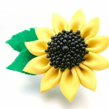 Beaded sunflower - first iteration