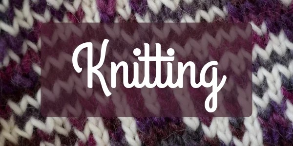 Knitting welcome cover