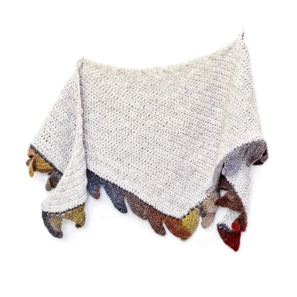 In flames shawl - free crescent shawl crochet pattern