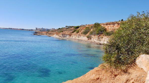Turkost vatten på Cabo Roy