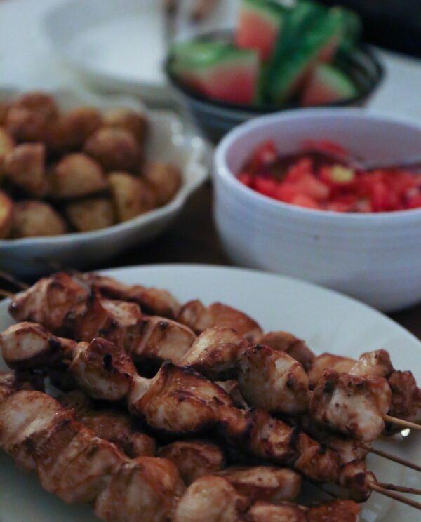 Kycklingspett i ugn - nästan lika goda som på grillen