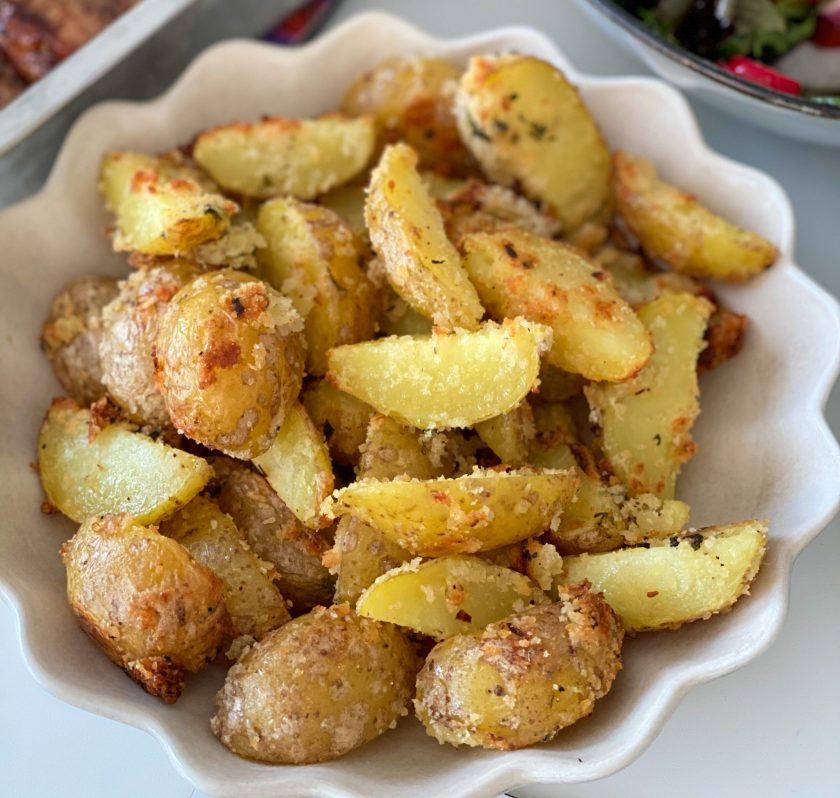 Frasig panko- och parmesanpotatis
