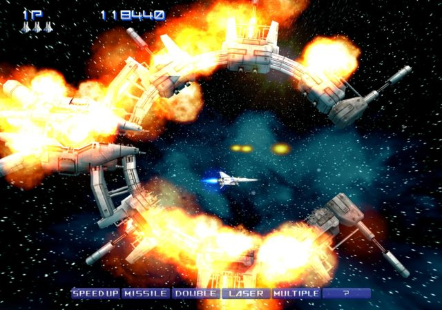 Gradius V on the best graphic settings for PCSX2