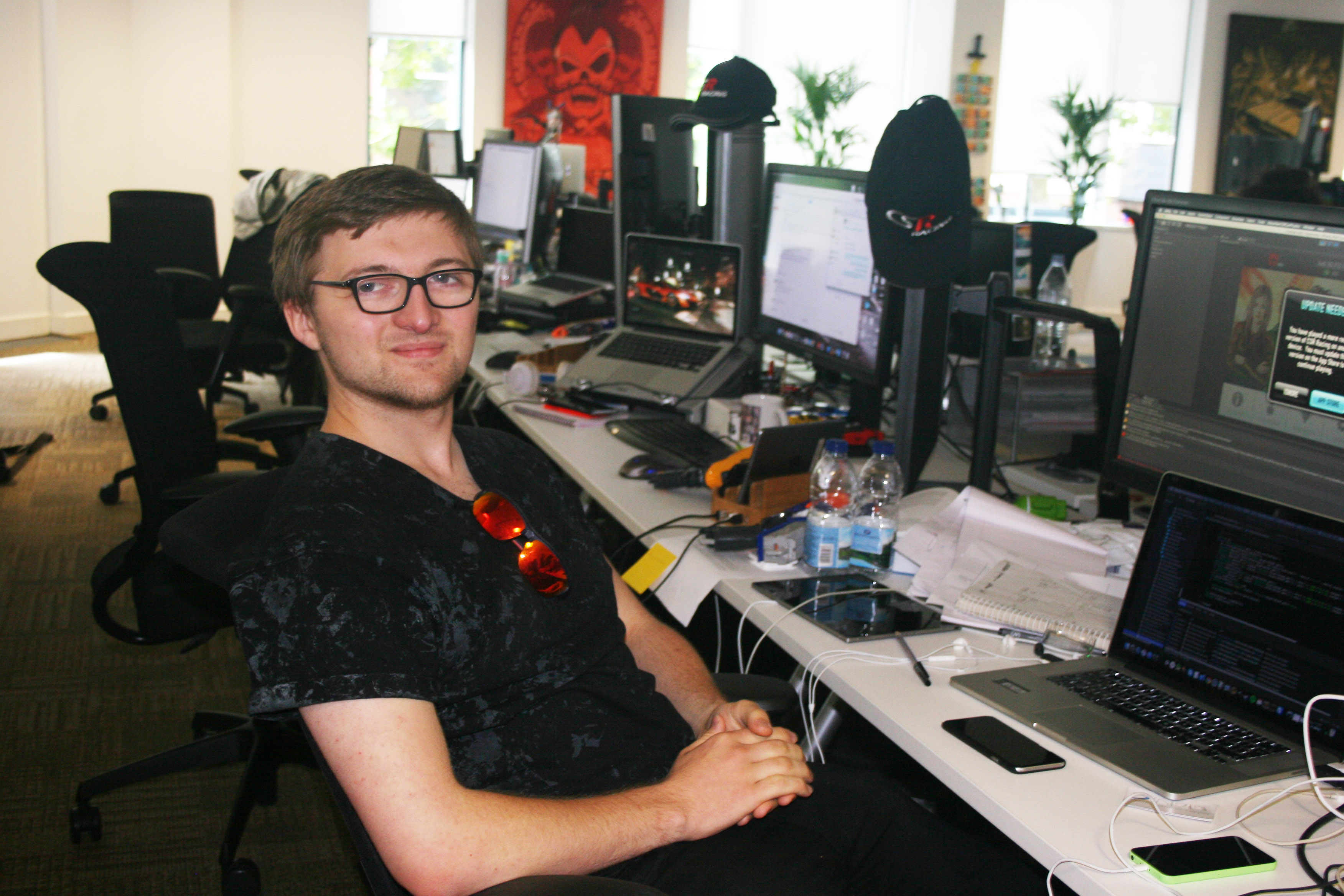 Oli Shannon-Leper games programming intern at Boss Alien