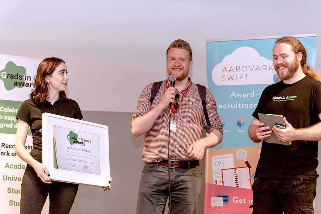 Matthew Novak, 2019 Winner Grads In Games Academic Award