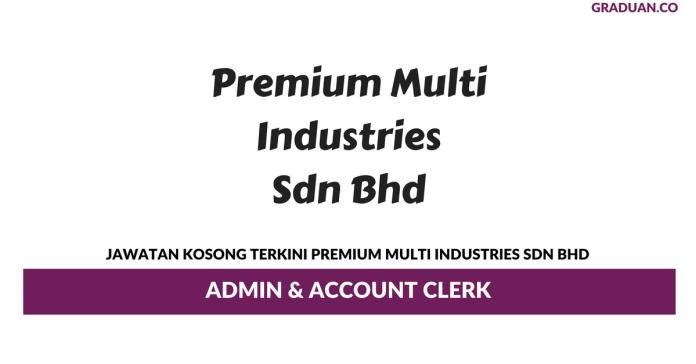 Permohonan Jawatan Kosong Terkini Premium Multi Industries Sdn Bhd