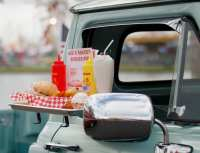 A display of car hop food sits on a vintage truck at the Georgia National Fair in Perry, Georgia, on Saturday, October 7, 2017. (Photo/Catherine Morrow)