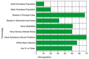 National Demographics for Homeless Veterans