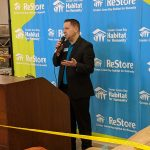 Matt Harper, development director of the Greater Green Bay Habitat for Humanity, provided the opening remarks.