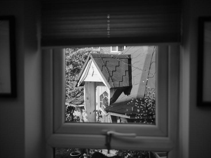 Hut from window