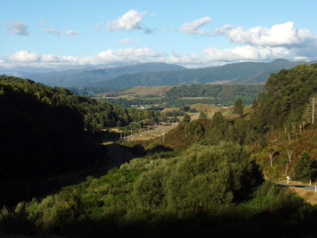 Reefton and the Victoria Range from the Grey Valley watershed