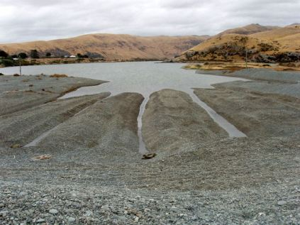 Traps for freshwater eel (tuna) where Waiwera drains to the sea