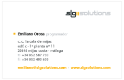 SLG solutions business card design