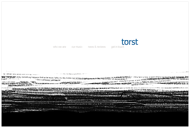 Torst website design