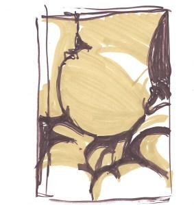 """Magnificum lacte II"". Felt pen on paper, 20.5cm x 19.8cm, 2012"