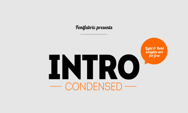 00 IntroCondensed Intro Condensed, una display en libre descarga en sus versiones light y bold