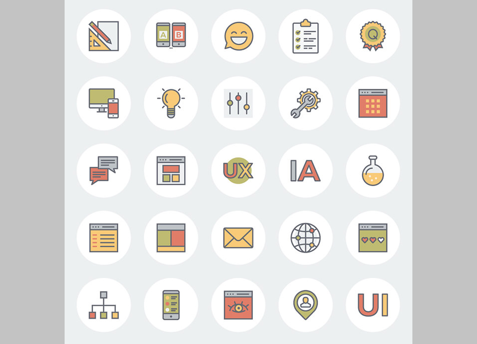 Los 45 Flat Line UX And E-Commerce Icons For Free por The Smashing Editorial
