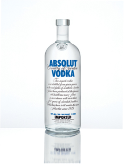 absolut vodka El top 10 de las celebrities del packaging