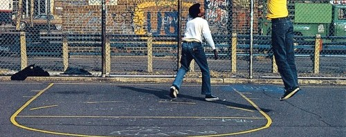 Photo: Graffiti and Basketball in the Park - 1970s or Early 1980s