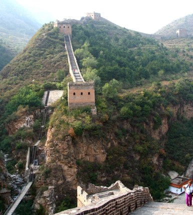 This shows how incredibly steep and treacherous some of the GREAT WALL steps were