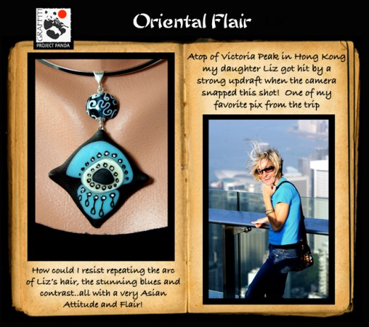 Oriental Flair pendant and my daughter Liz