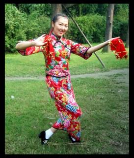 Helen doing a traditional dance