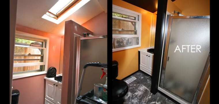 ADD A TOUCH OF SAFFRON…Our bathroom transformation