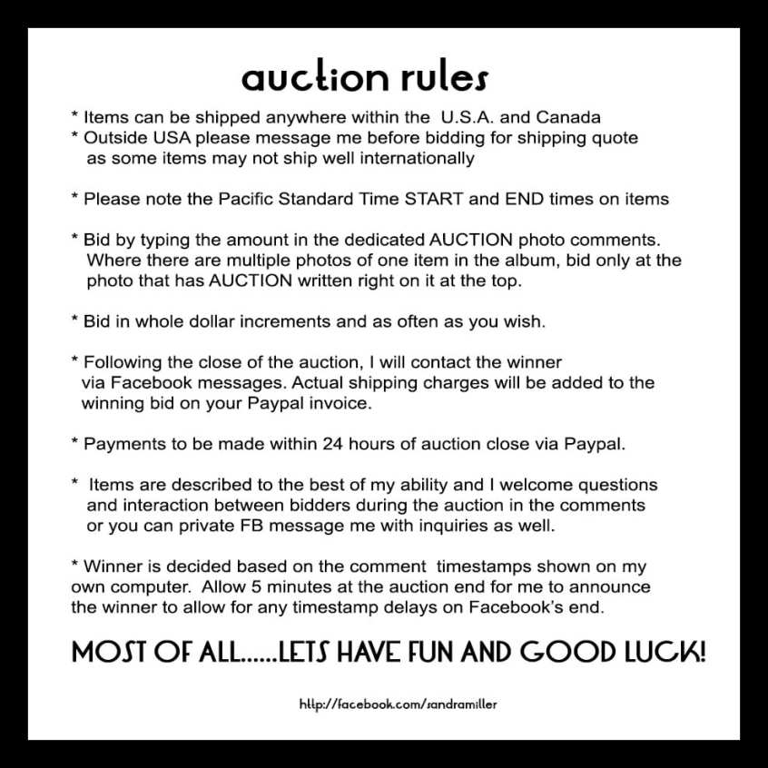 AUCTION RULES