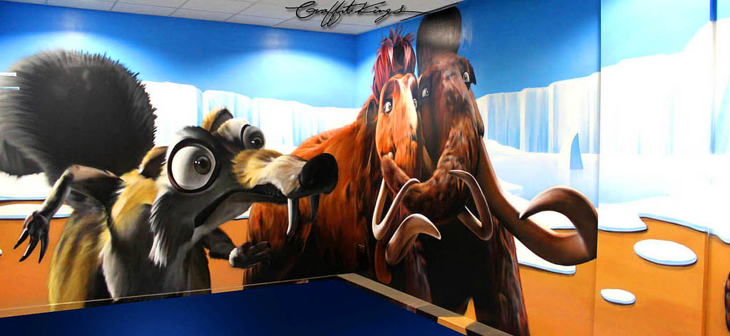 Disney Ice Age Graffiti Mural