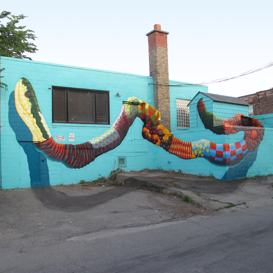 birdO anamorphic art at Graffiti Kings