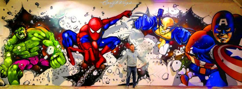 Marvel Comic Graffiti