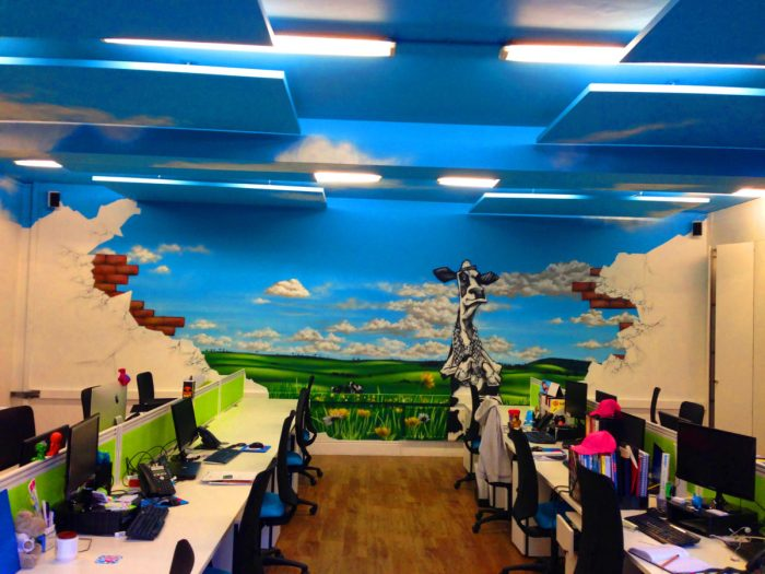 Office Street Art Mural