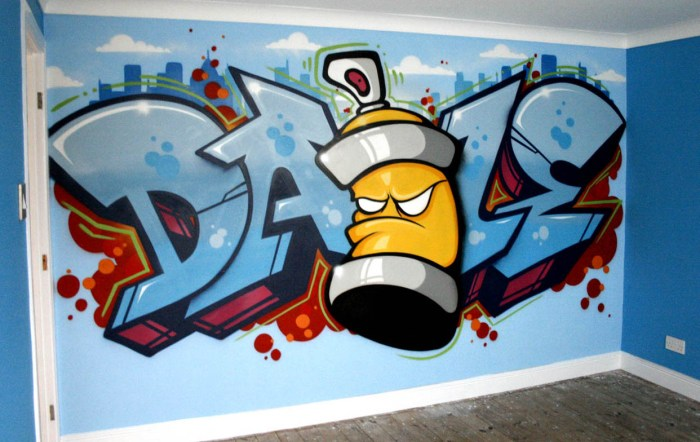 graffiti wallpaper spraycan