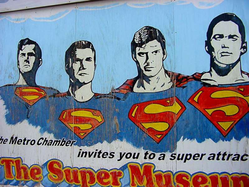 Superman Graffiti Street Art