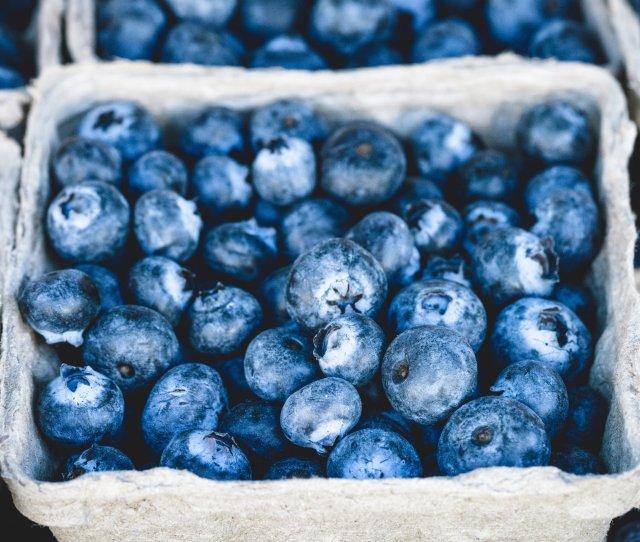 Fresh Blueberries Hd Desktop Wallpaper