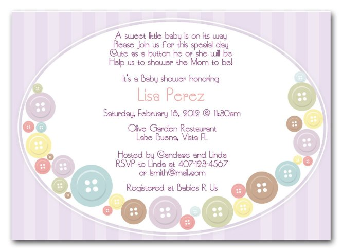 Baby Shower Invitation Wording You Can