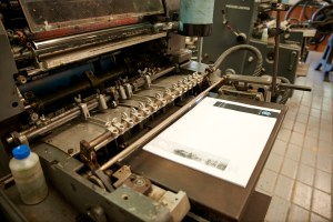 Produção Offset na Tipografia Sintrense