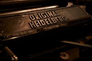 Produção Tipográfica em Heidelberg