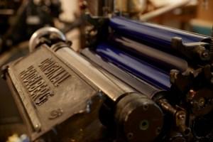 Impressão tipografia tradicional Heidelberg