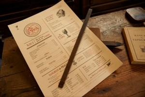 Ementa de restaurante, Tipografia Sintrense, portfolio