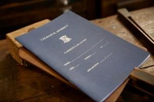 Caderneta de aluno, Tipografia Sintrense, portfolio