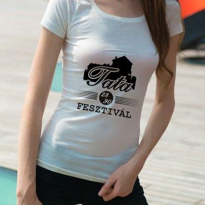 Egyedi nyomtatott Magyarország póló, Tata fesztivál szöveggel.