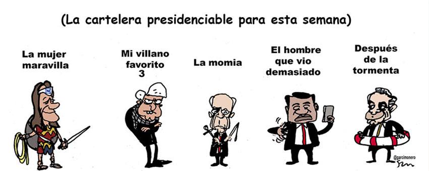 La cartelera presidenciable para esta semana - Garcí