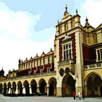 Kraków Rynek Polska Sukiennice obraz zabytek zabytki atrakcja turystyczna