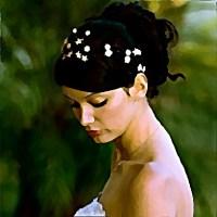 Myśląca kobieta obraz piękna urocza cudowna